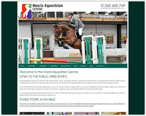Responsive Web Design for Morris Equestrian