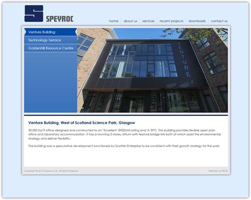 Website design and development for Speyroc Ltd