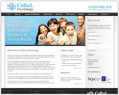 Website for Coral Psychology