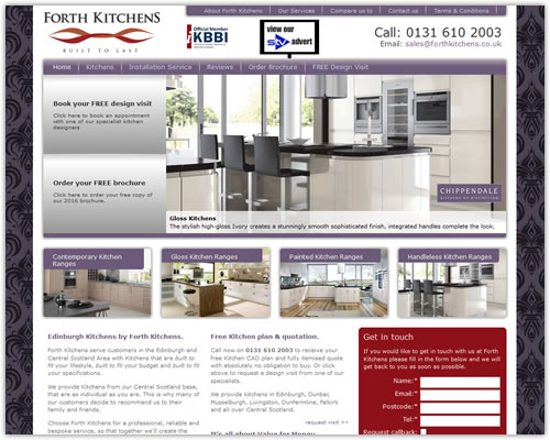 Website for Forth Kitchens