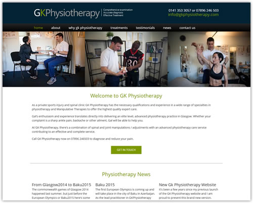 Responsive Website Design and Build for GK Physiotherapy