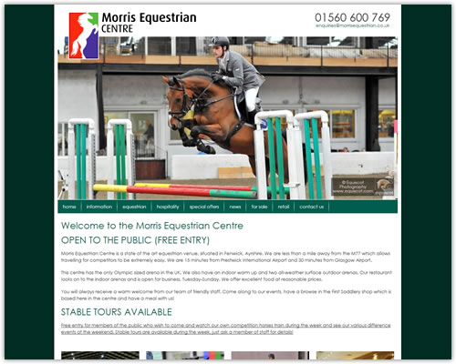 Responsive Web Design for Morris Equestrian