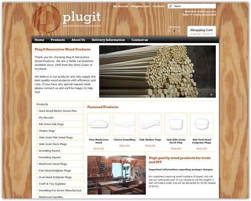 ECommerce Website for Plugit Dowelling