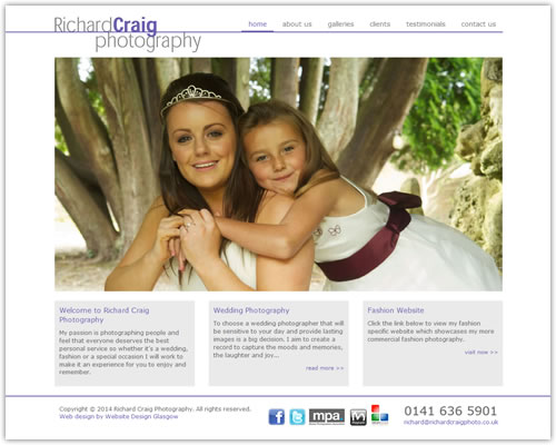 Web Design for Richard Craig Photography