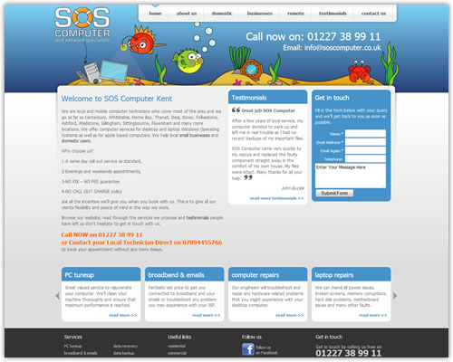 Web Design for SOS Computer