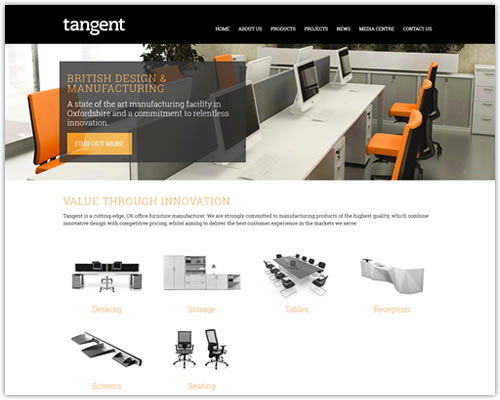 Responsive Web Design for Tangent Furniture