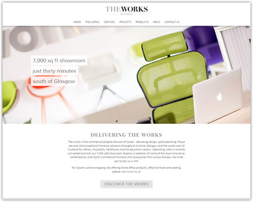 Responsive Web Design for The Works by Saxen
