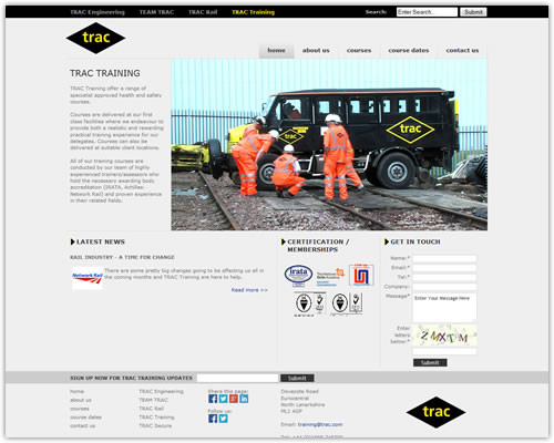 Web Design and Development for TRAC Engineering